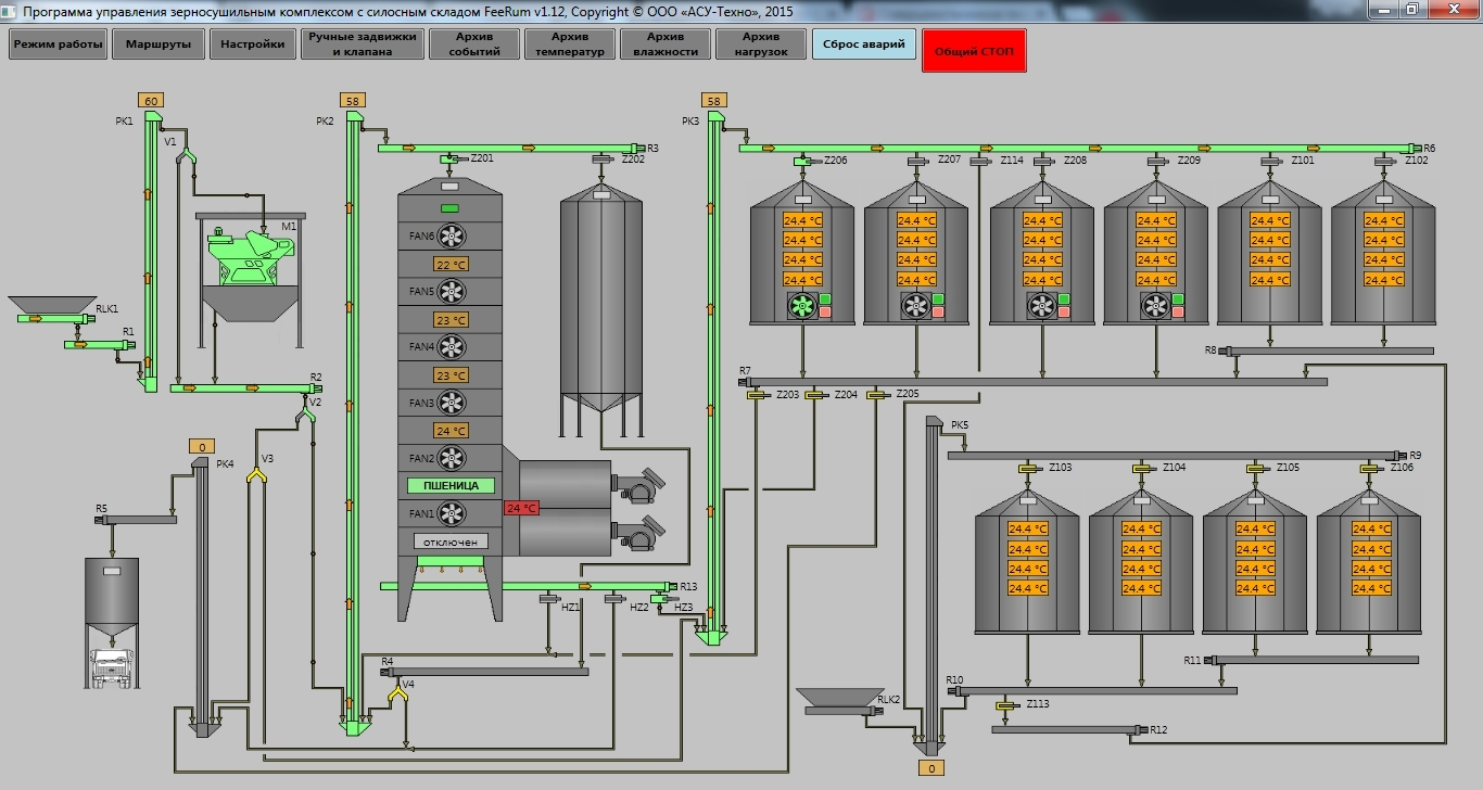 Stupendous Feerums Grain Dryer With A Silo Storage Ooo Asu Tekhno Wiring Cloud Hisonuggs Outletorg